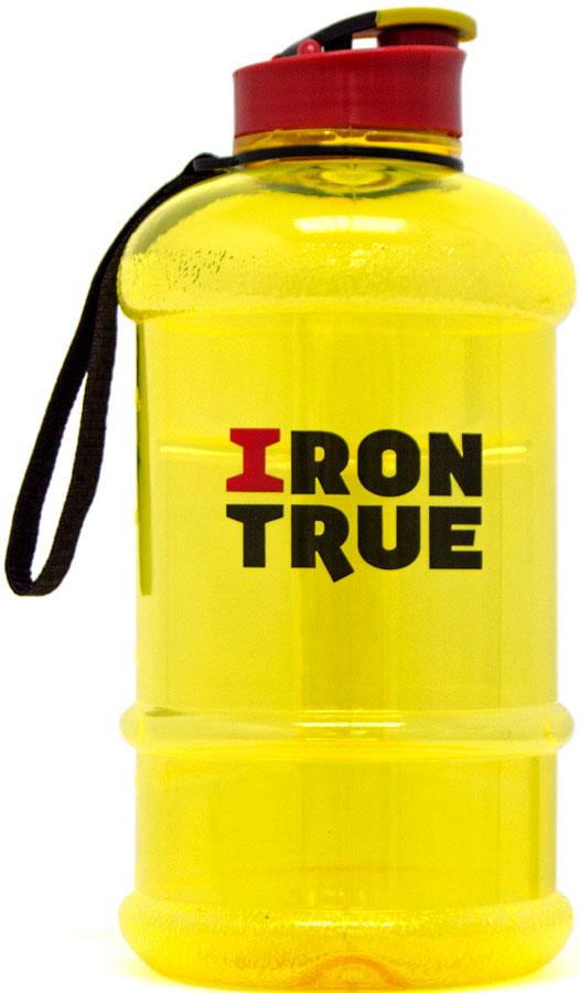 Бутылка спортивная Irontrue Classic Series, цвет: желтый, красный, 1,3 л. ITB941-1300 бутылка спортивная irontrue цвет оранжевый желтый 2 2 л