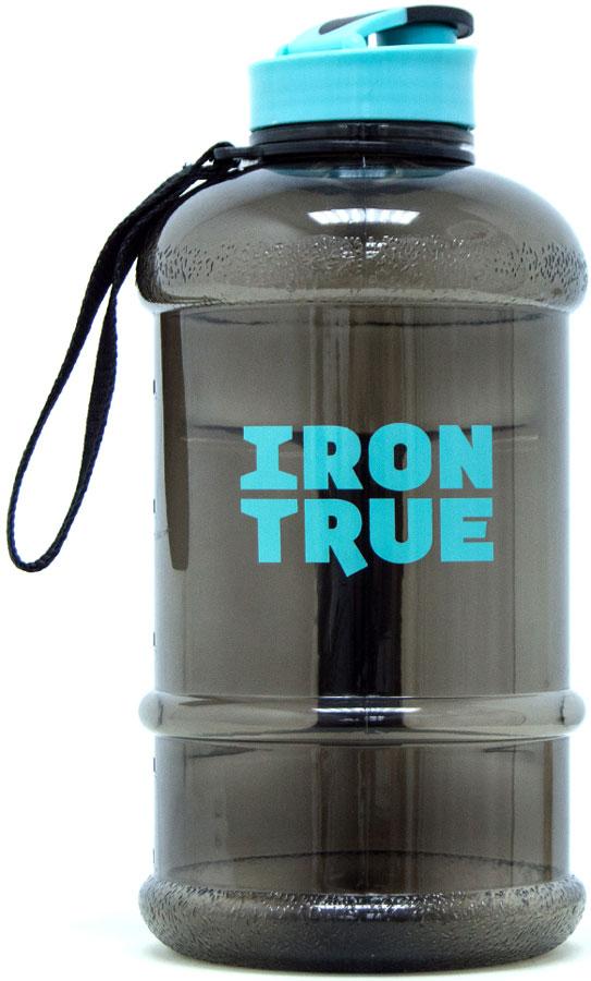 Бутылка спортивная Irontrue Classic Series, цвет: черный, бирюзовый, 1,3 л. ITB941-1300 бутылка спортивная irontrue цвет розовый 2 2 л itb931 2200