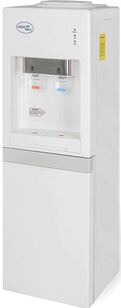 Aqua Well YLR 1.5-JXD-1 ПЭШ кулер для водыК2864Кулер для воды напольный Aqua Well YLR 1.5-JXD-1 - современный дизайн делает кулер украшением любого дома или офиса. Классическая, надежная модель напольного кулера с электронным охлаждением. Температура охлаждённой воды около 15 градусов Цельсия, температура нагрева до 95 градусов.