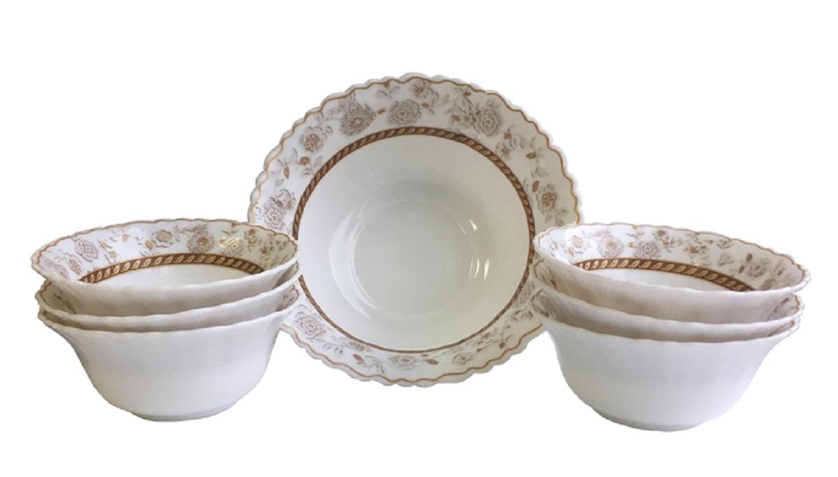 Набор салатников Chinbull Антураж, 7 предметовOW-7A5/160203Набор стильных салатников из тонкой стеклокерамики состоит из 7 предметов.В наборе 6 салатников, диаметром 12,5 см, 1 салатник, диаметром 20 см.