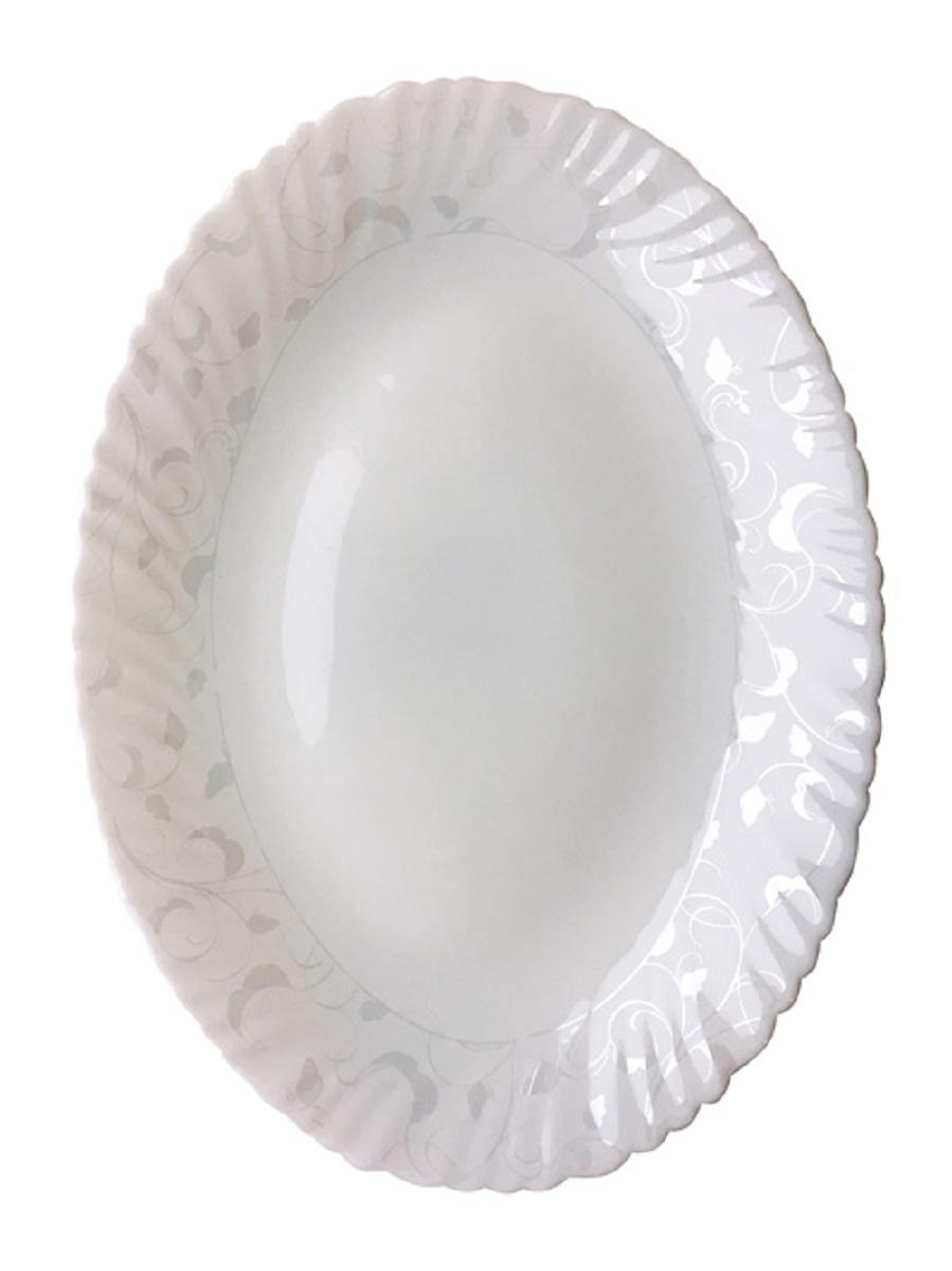 Блюдо овальное Chinbull Иль-де-Франс. Волна, 30,5 х 23 см tanite victoir platineatine 1489 блюдо овальное 35 см цвет белый с платиной