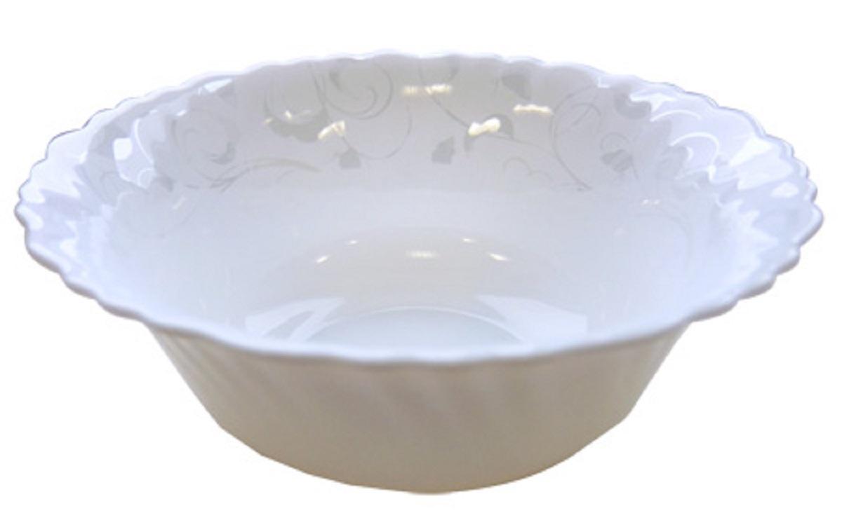 Стильный набор салатников из тонкой стеклокерамики состоит из 7 предметов. В наборе 6 салатников, диаметром 12,5 см и 1 салатник, диаметром 20 см.