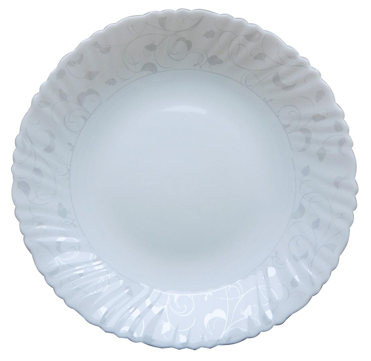 Тарелка десертная из тонкой стеклокерамики.