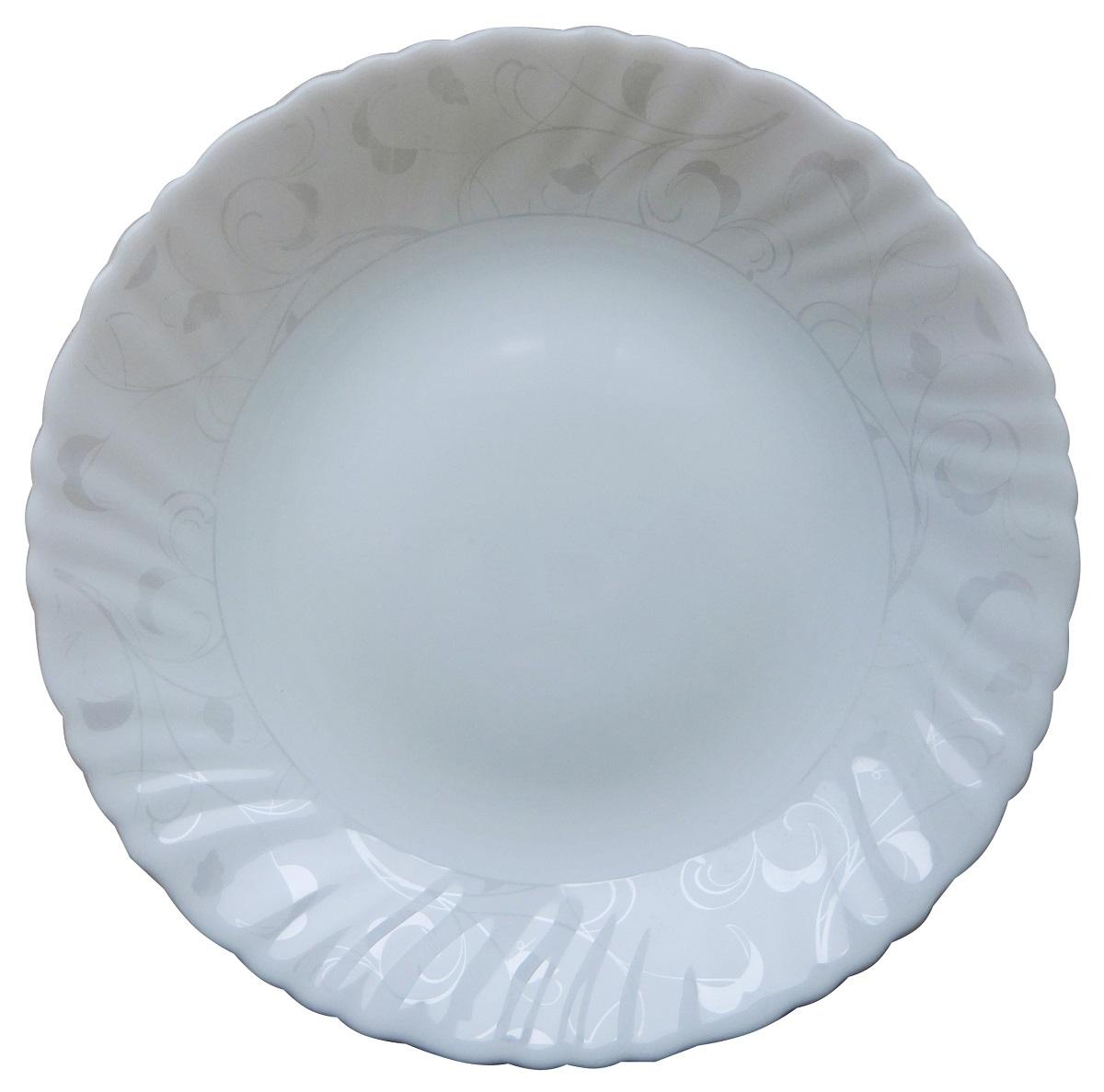 Тарелка обеденная из тонкой стеклокерамики.