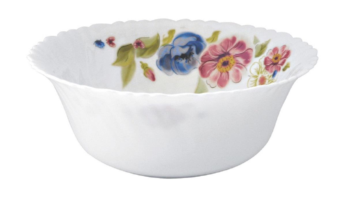 Салатник Chinbull Луара, диаметр 22,5 смOLHW-90/150506Яркий и изящный салатник из тонкой стеклокерамики с цветочным рисунком.