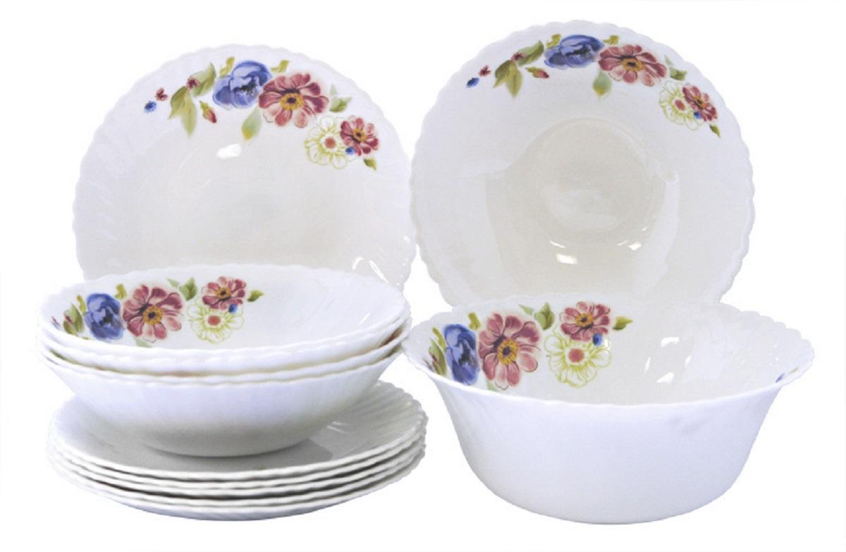 Сервиз столовый Chinbull Луара, цвет: белый, синий, розовый, 13 предметов rtm870t 954