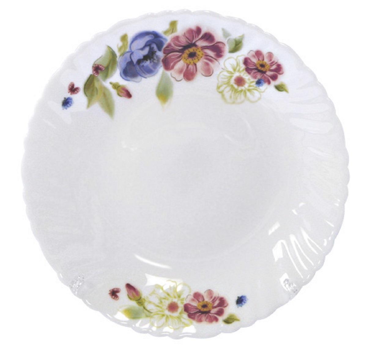 Тарелка десертная Chinbull Луара, диаметр 19 смOLHP-75/150506Тарелка десертная из тонкой стеклокерамики с цветочным рисунком.