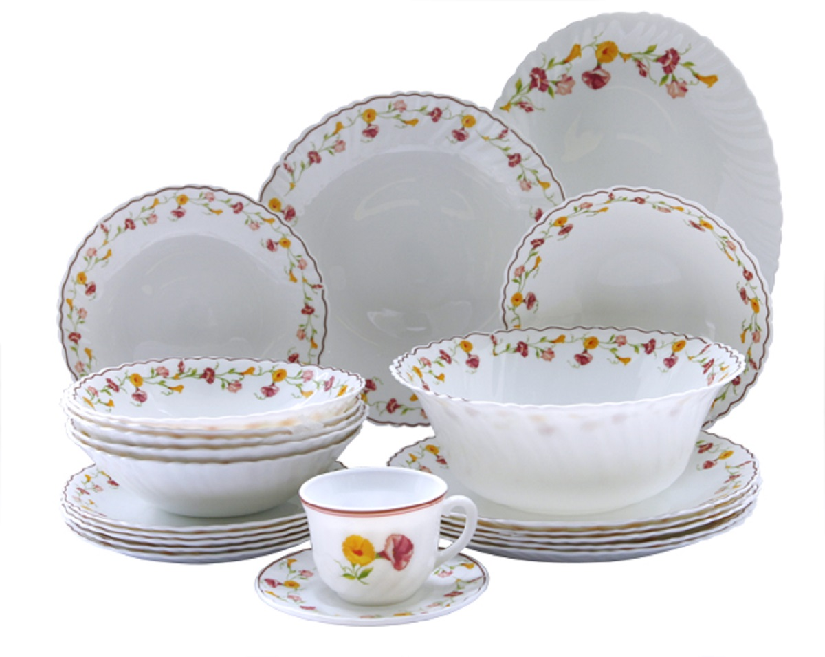 Сервиз столовый Chinbull Эльзас, цвет: белый, красный, 32 предмета блюдо chinbull рона 30 5 х 22 5 см