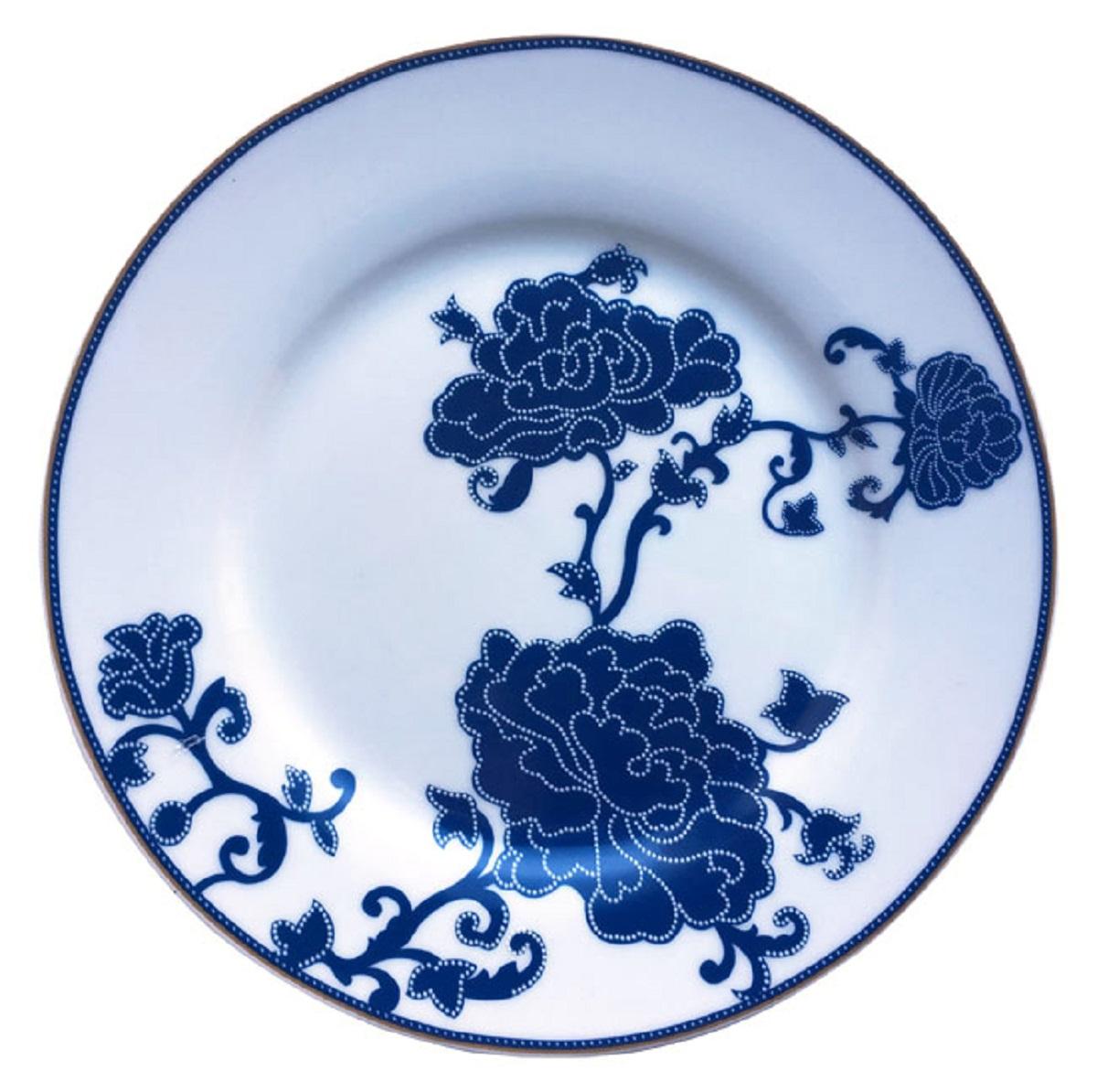 Тарелка десертная МФК-профит Восточный сад, диаметр 19 см щетка для посуды мфк профит цветы цвет розовый 17 5 x 7 x 5 см