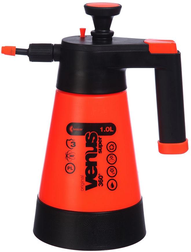 Опрыскиватель компрессионный Kwazar Venus Супер 360, цвет: оранжевый, 1 л опрыскиватель компрессионный kwazar venus супер 360 цвет оранжевый 1 л