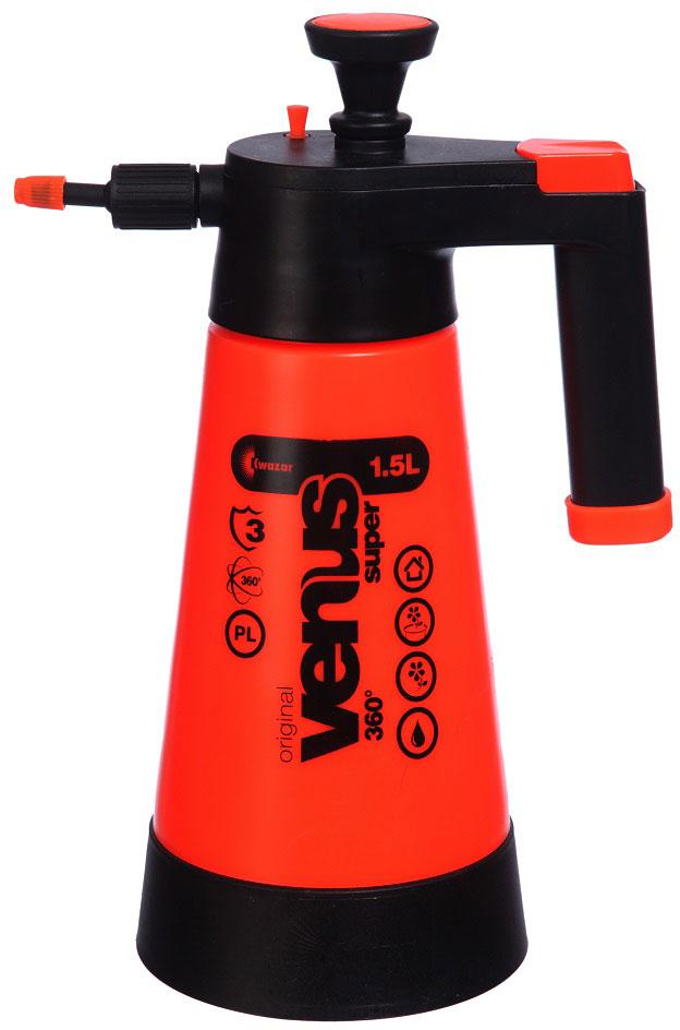 Опрыскиватель компрессионный Kwazar Venus Супер 360, цвет: оранжевый, 1,5 л опрыскиватель компрессионный kwazar venus pro 360 цвет белый голубой 1 л