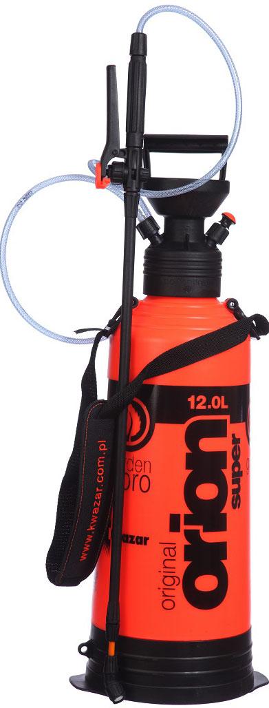 Опрыскиватель компрессионный Kwazar Orion Супер 360, цвет: оранжевый, 12 л опрыскиватель компрессионный kwazar venus супер 360 цвет оранжевый 1 л