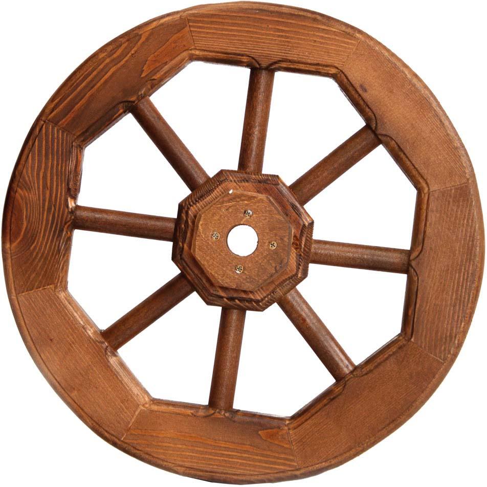 Колесо предназначено для оформления интерьера, ландшафта или как составляющая часть какой-либо декоративной конструкции.