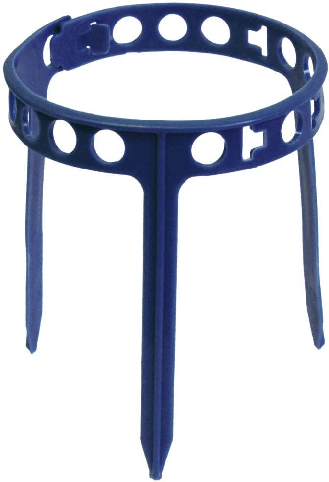 """Опора для ягодных кустарников - садовое кольцо """"Клубника"""", в упаковке 10 штук. Из деталей можно составить кольцо любого размера. Материал - пластмасса, детали гибкие."""