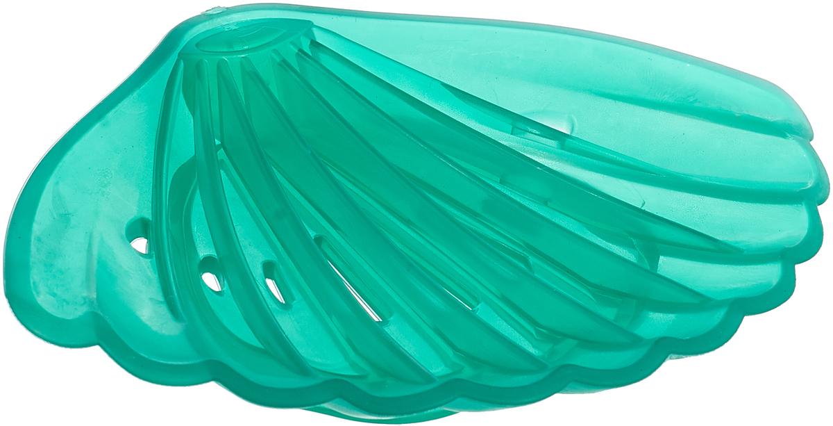 Мыльница Libra Plast Ракушка, цвет: бирюзовый. LP0047 механизм сливной alca plast a08