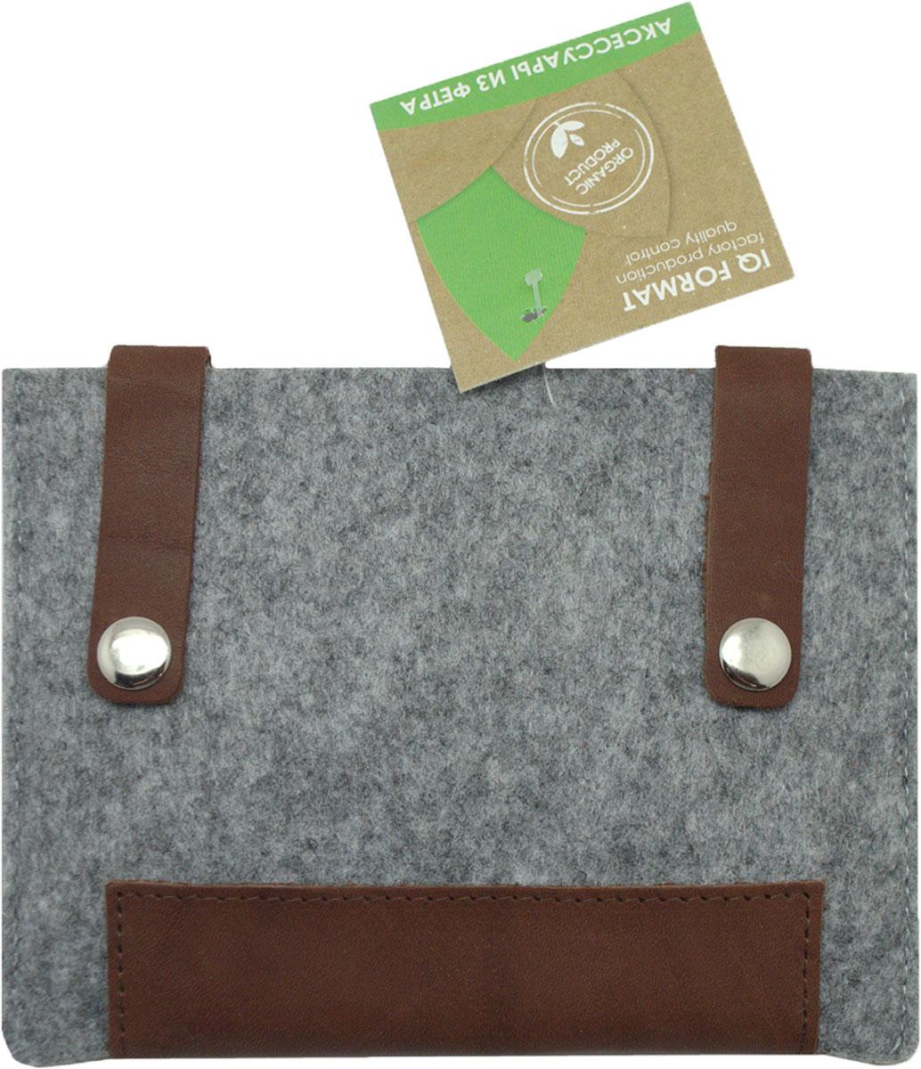 Feltrica Папка для бумаг A6 цвет серый коричневый