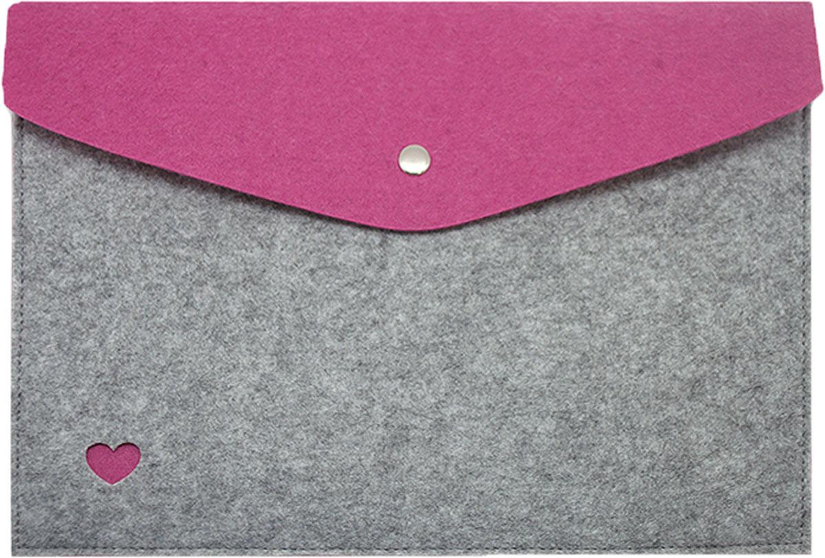 Feltrica Папка для бумаг Сердце A4 цвет серый фиолетовый4627130655014Папка А4 из фетра Feltrica - это стильный офисный аксессуар для хранения личных вещей и документов. Экологичные материалы и надежное крепление обеспечат сохранность ценных вещей от внешнего воздействия, а современный эко-дизайн подчеркнет Ваш неповторимый стиль.