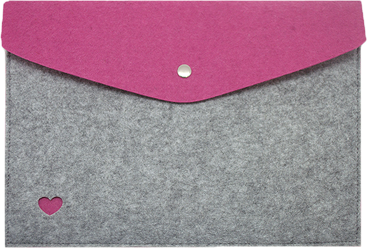 Feltrica Папка для бумаг Сердце A4 цвет серый фиолетовый