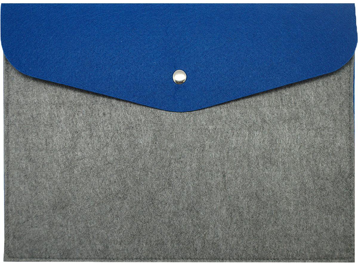 Feltrica Папка для бумаг A4 цвет серый синий
