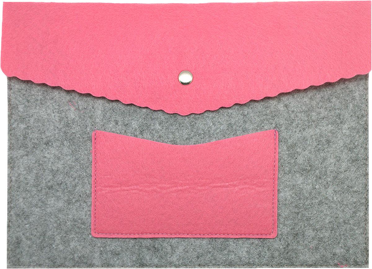 Feltrica Папка для бумаг с карманом A4 цвет серый розовый