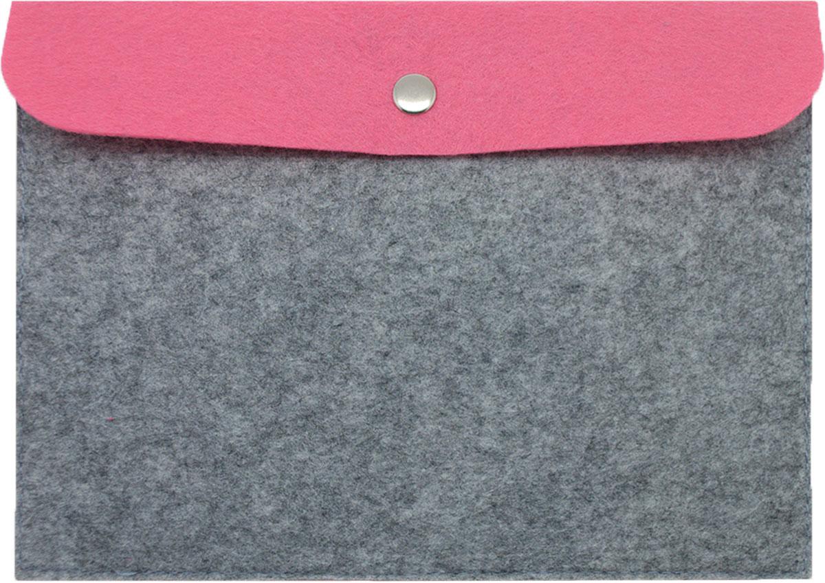 Feltrica Папка для бумаг A5 цвет серый розовый 46271306550904627130655090Папка А5 из фетра Feltrica - это стильный офисный аксессуар для хранения личных вещей и документов. Экологичные материалы и надежное крепление обеспечат сохранность ценных вещей от внешнего воздействия, а современный эко-дизайн подчеркнет Ваш неповторимый стиль.