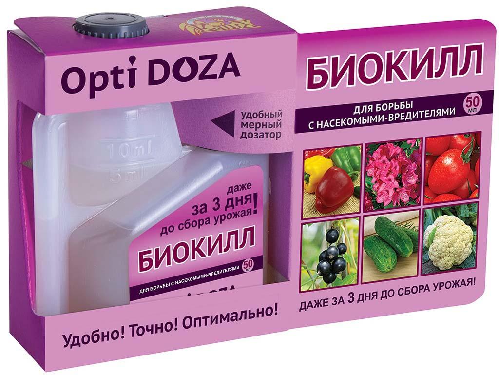 """Инсектицид для борьбы с насекомыми-вредителями. """"БиоКилл"""" практически незаменимый препарат для защиты от вредителей (капустная белянка, тля, трисп, клещ, пяденица) смородины, крыжовника, малины, яблони и других плодовых деревьев, томатов, цветов (и в саду, и в комнате), ведь применение многих химических препаратов разрешено только не позднее 20 дней до сбора урожая. Срок ожидания от последней обработки до сбора урожая — не более 3-х суток."""
