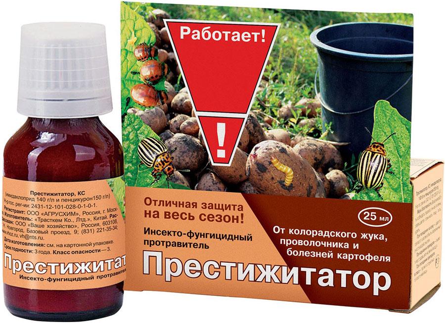 Инсекто-фунгицидный протравитель для обработки клубней картофеля против грызущих и сосущих вредителей (в т.ч. почвообитающих), а также некоторых болезней (ризоктониоз, парша обыкновенная).