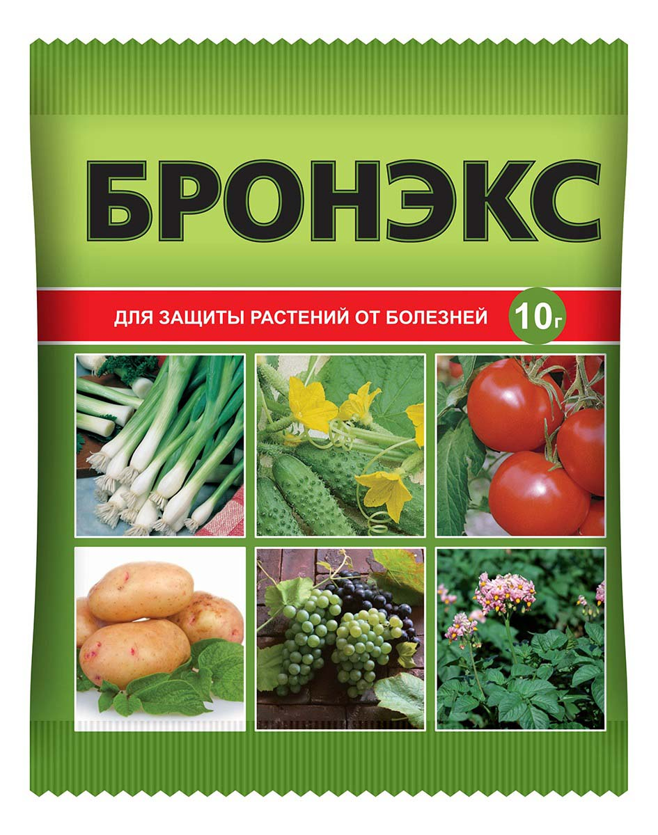 Препарат для защиты растений Ваше хозяйство Бронэкс, от болезней, 10 г от болезней