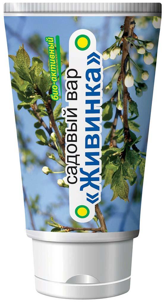 """Садовый вар на биоорганической основе для быстрого заживления ран при обрезке, от буреломов, морозобоин, солнечных ожогов, а также ран, нанесенных грызунами и другие на деревьях и кустах. Главные особенности этого продукта — его органический состав, """"дружественность"""" ингредиентов живым растениям и тканям."""