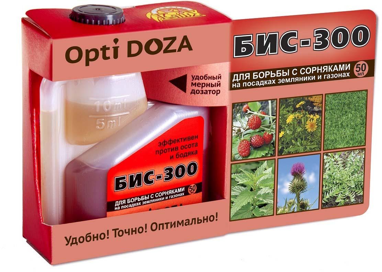 Препарат для защиты растений Ваше хозяйство Бис-300, для борьбы с сорняками, 50 мл борьба с сорняками