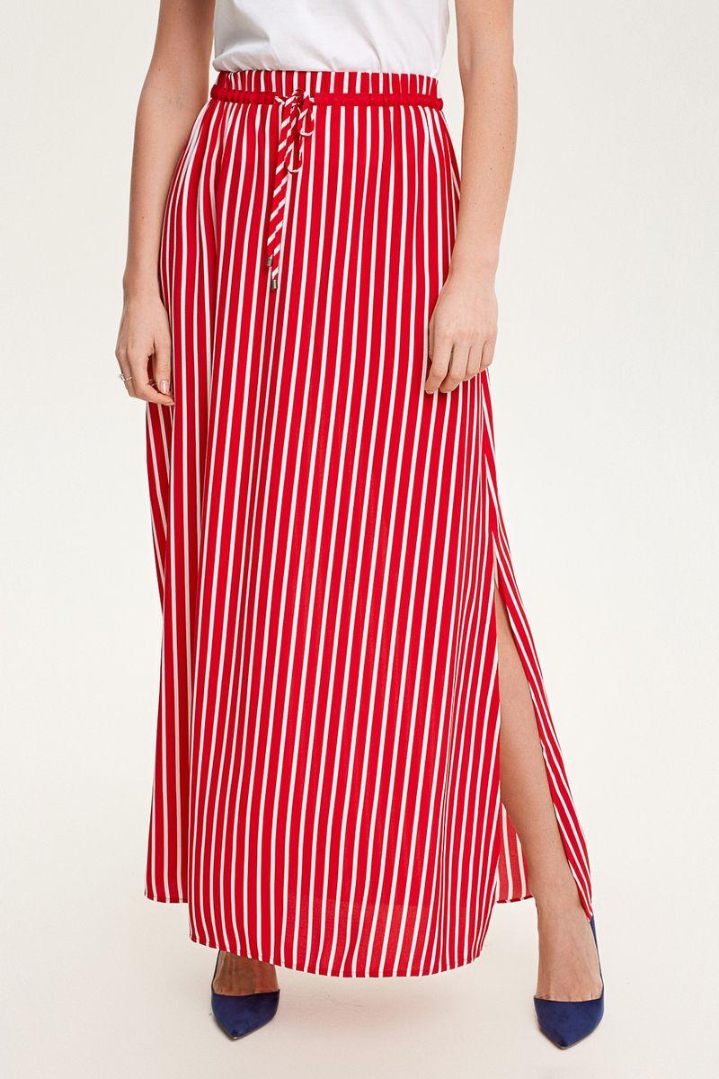 Юбка Concept Club Tely, цвет: красный, белый. 10200180263_1500. Размер L (48)10200180263_1500Длинная юбка из гладкого тканого материала, декорированная разрезами по бокам. Талия на резинке и кулиске. Без подкладки.