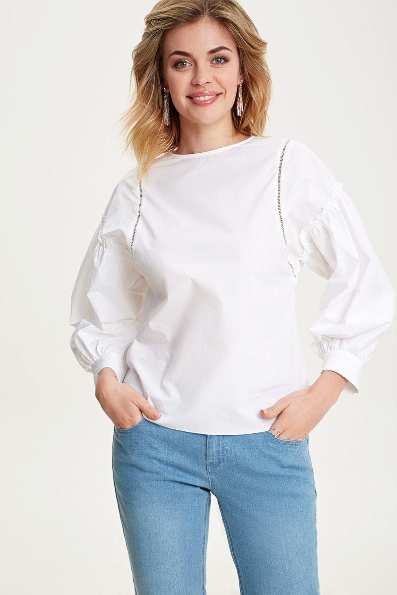 Блузка женская Concept Club Oktan, цвет: белый. 10200260245_200. Размер L (48) блузка женская concept club titane цвет зеленый 10200270147 2300 размер l 48