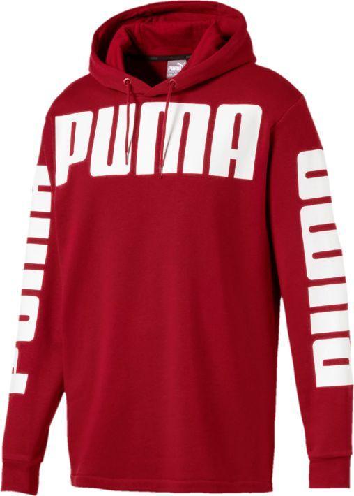 Купить Худи мужское Puma Rebel Hoody Tr, цвет: темно-красный. 85007837. Размер M (46/48)