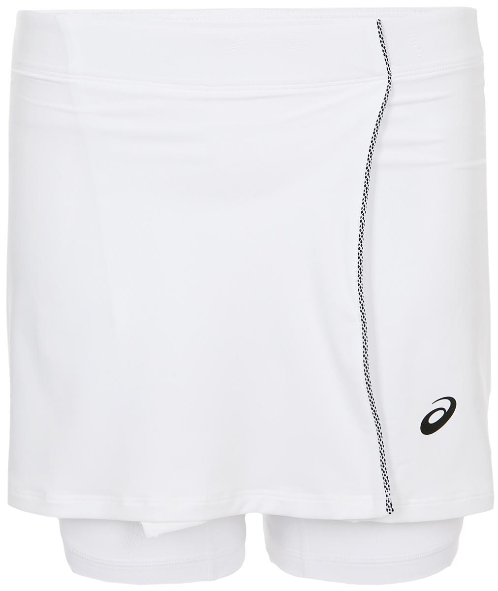 Юбка Asics Skort, цвет: белый. 154422-0014. Размер XS (42)154422-0014Мини-юбка для тенниса от Asics с внутренними шортами выполнена из полиэстера с добавлением спандекса. Модель с эластичной резинкой на талии.