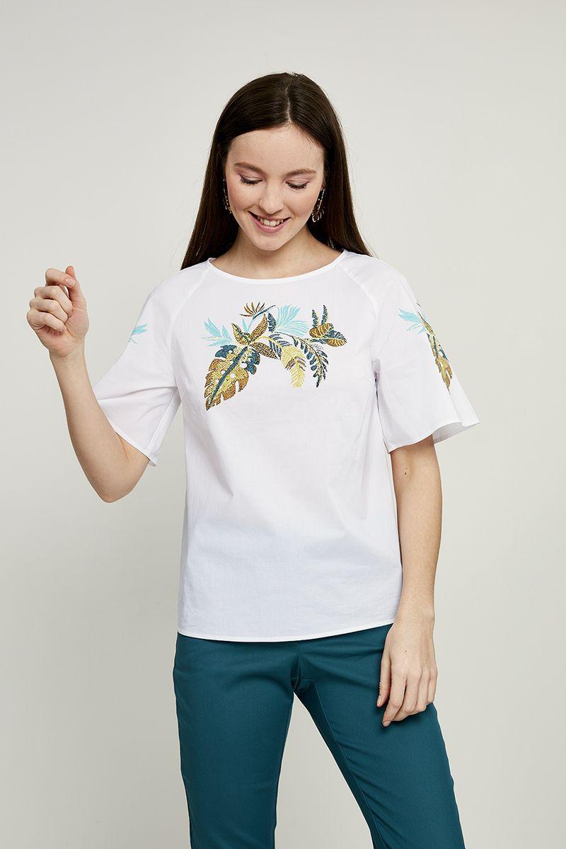 Блузка женская Zarina, цвет: белый. 8224089319001. Размер 48 блузка quelle zarina 1013014
