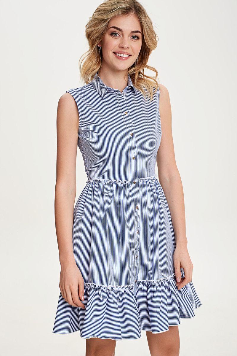 Платье Concept Club Frappe, цвет: синий. 10200200475_500. Размер XXS (40) сарафан concept club mang цвет черный 10200200447 100 размер xxs 40