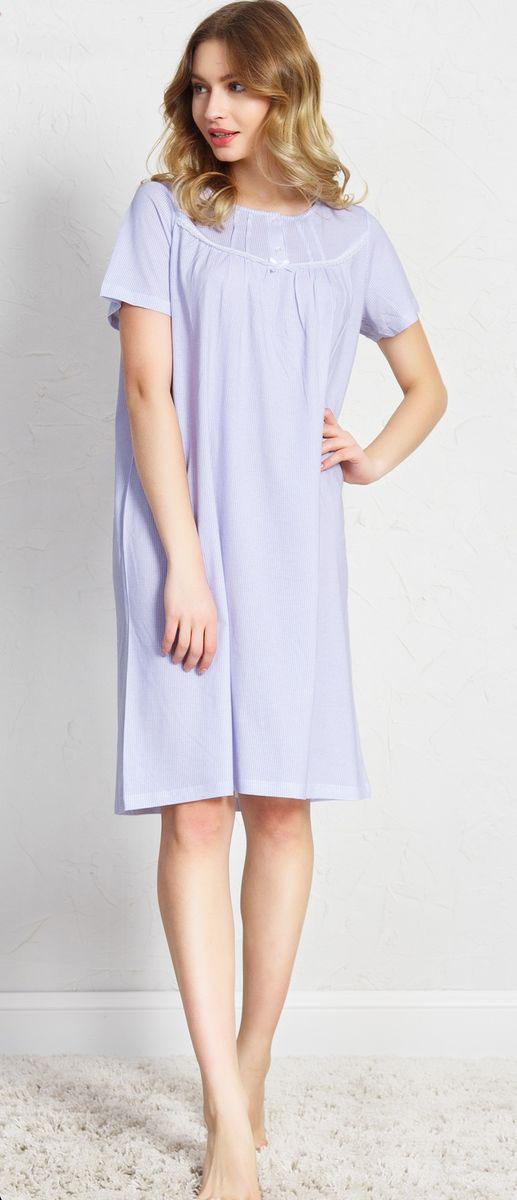Ночная рубашка женская Vienetta's Secret, цвет: сиреневый. 160383 4080. Размер XL (50)