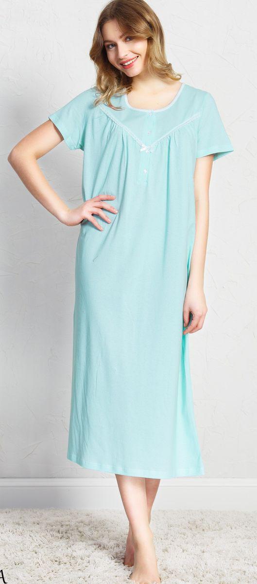 Ночная рубашка женская Vienetta's Secret, цвет: зеленый. 160386 5170. Размер XL (50) ночная рубашка женская коллекция цвет темно синий осрн 18 размер 56