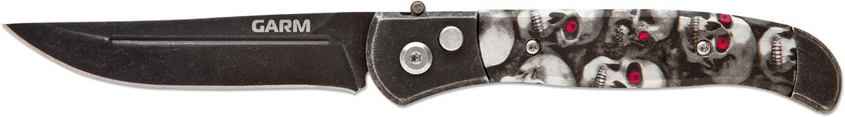 Нож автоматический Ножемир Четкий расклад. Garm, цвет: черный, длина лезвия 8,5 см