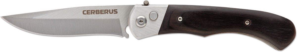 Нож автоматический Ножемир Четкий расклад. Cerberus, цвет: черный, длина лезвия 8,8 см блокфлейту недорого в кумертау