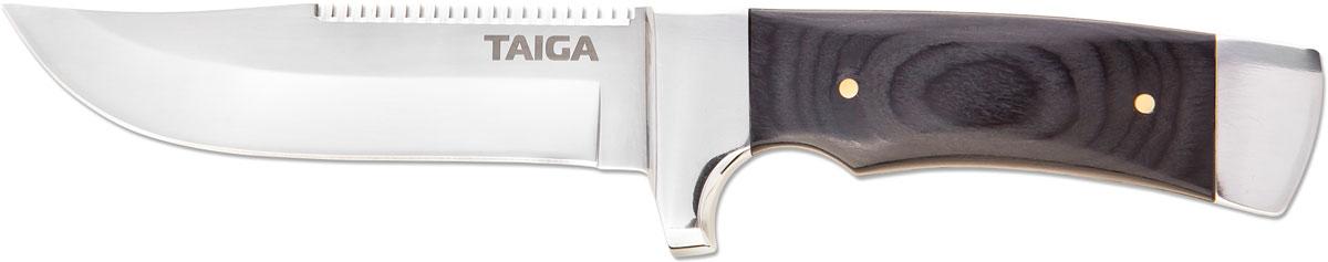 Нож туристический Ножемир, цвет: коричневый, длина лезвия 11,3 см нож нескладной ножемир кардинал дамасская сталь с ножнами общая длина 28 см