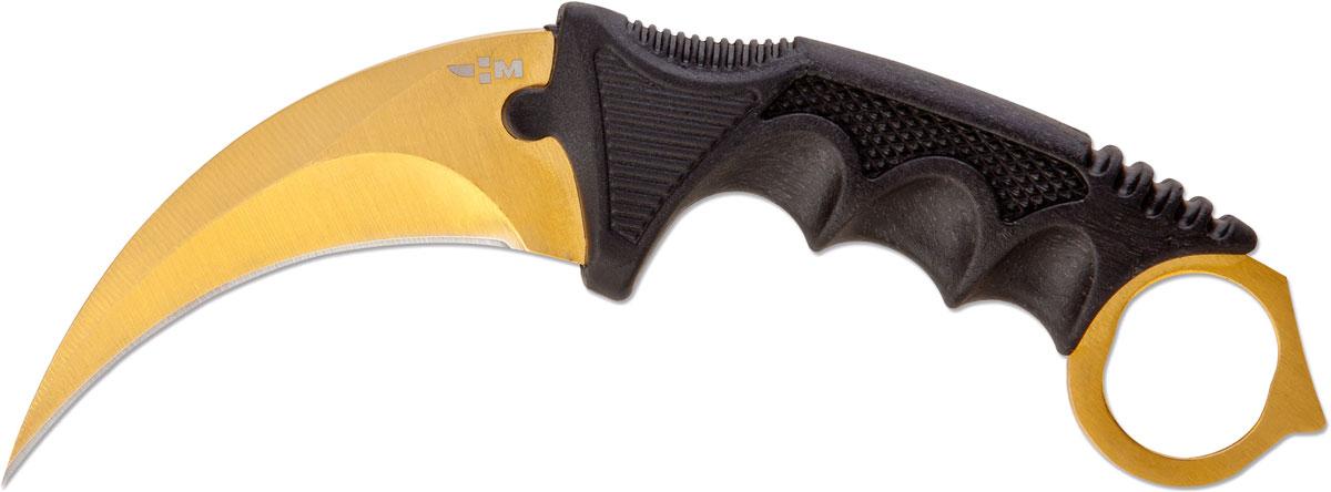 Нож нескладной Ножемир Керамбит, цвет: золотистый, длина лезвия 8,9 см ножемир н 222 нескладной page 4
