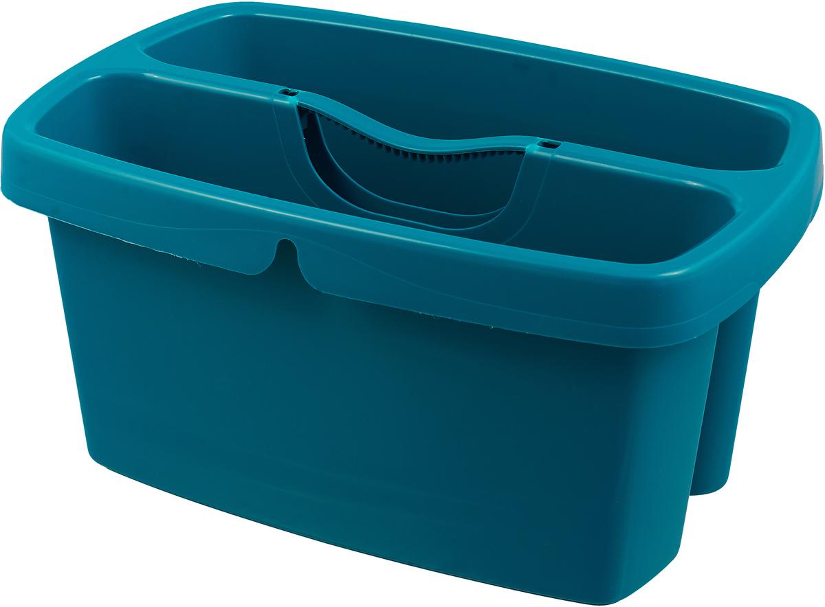 Ведро для мытья окон Leifheit Cleaning, двухкамероное, цвет: бирюзовый52001Двухкамерное ведро Leifheit Cleaning: одно отделение для воды, другое для принадлежностей. Для компактного хранения тряпок, салфеток, моющих средств и многого другого.