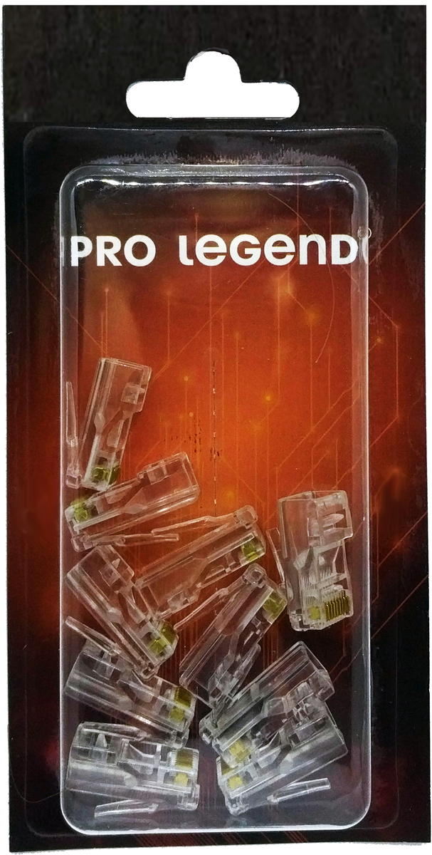 Pro Legend PL1276 разъем RJ45 кат,5е 8P8C, 10 шт наушники pro legend pl5001 white