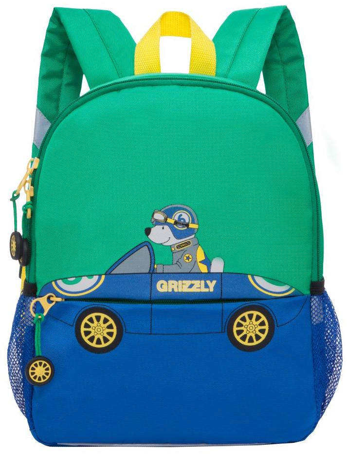 Grizzly Рюкзак детский цвет бирюзовый RS-890-2 grizzly рюкзак дошкольный цвет серый rs 764 5