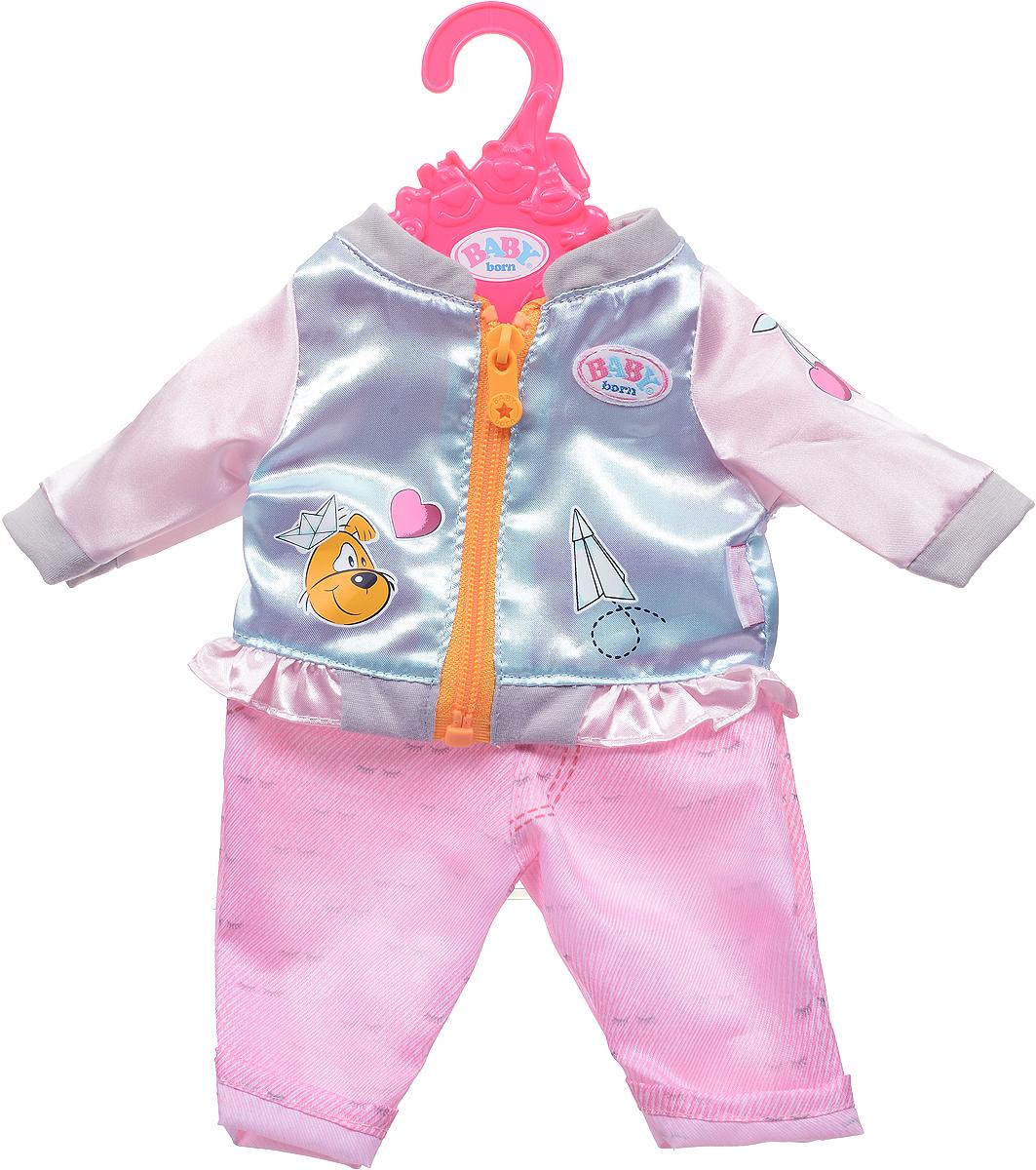Zapf Creation Одежда для куклы BABY born 824-542, Куртка голубая, штаны розовые детское питание для куклы zapf creation