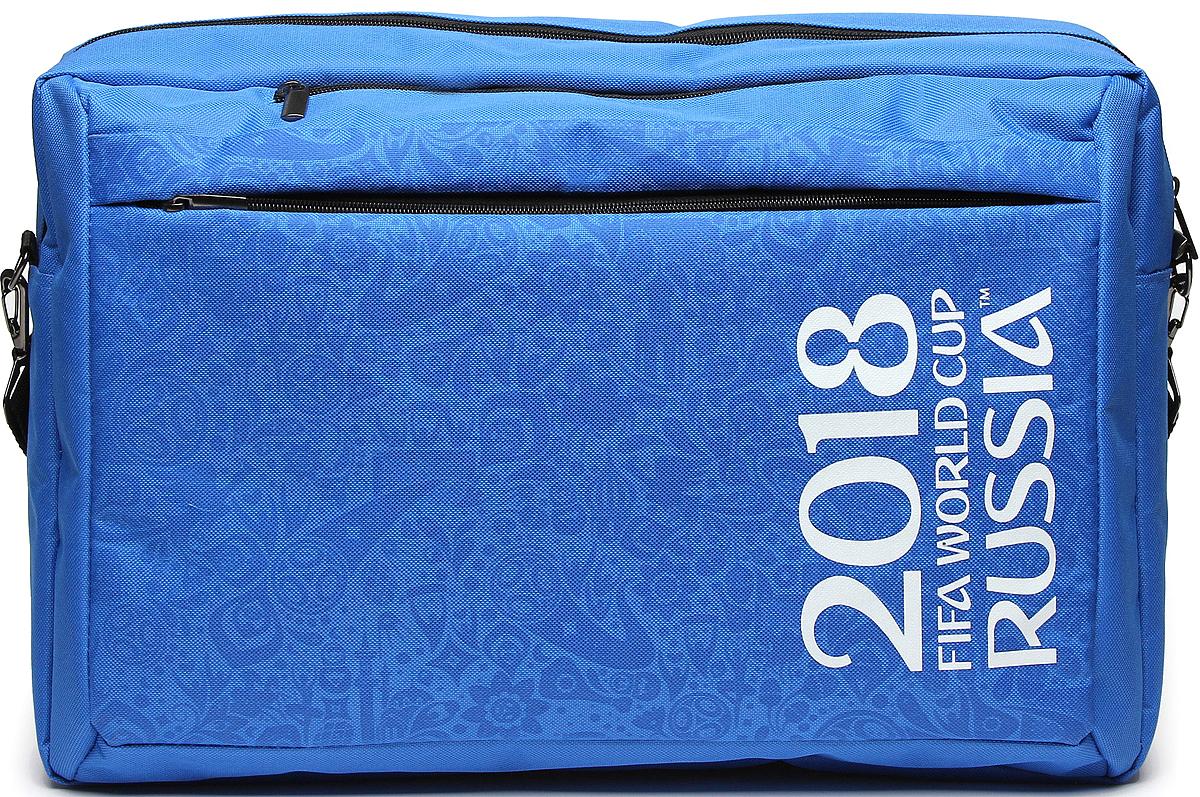 Crown Micro CM-F-BBC9001 FIFA 2018, Blue cумка-рюкзак для ноутбука 15,6CM-F-BBC9001Сумка-рюкзак для ноутбука CM-F-BBC9001– станет не только верным спутником для вашегоноутбука, но и сохранит память о празднике футбола на долгие годы или послужитзамечательным подарком истинному фанату. Сумка-рюкзак изготовлена из высококачественногоматериала – нейлона 600D с водоотталкивающей пропиткой, подкладка изготовлена изполиэстера. Внутри два отделения – основное и карман с защитой от механических поврежденийдля ноутбука с диагональю до 15,6''. Карман для ноутбука оборудован фиксирующим хлястикомна липучке для фиксации устройства при ношении в виде рюкзака. Спереди сумка имеет внешнийкарман на молнии. Ручки для переноски обшиты нейлоном для большей долговечности, вкомплекте поставляется ремень для ношения на плече. Особенностью данной модели являетсято, что из сумки ее легко и быстро можно трансформировать в рюкзак, для этого достаточноубрать ручки сумки в незаметные карманы, а сзади достать регулируемые по длине лямки изспециального отсека.Но конечно же, главной особенностью данной модели является яркийвнешний вид, выполненный в фирменной символике FIFA с официальной эмблемой чемпионата.