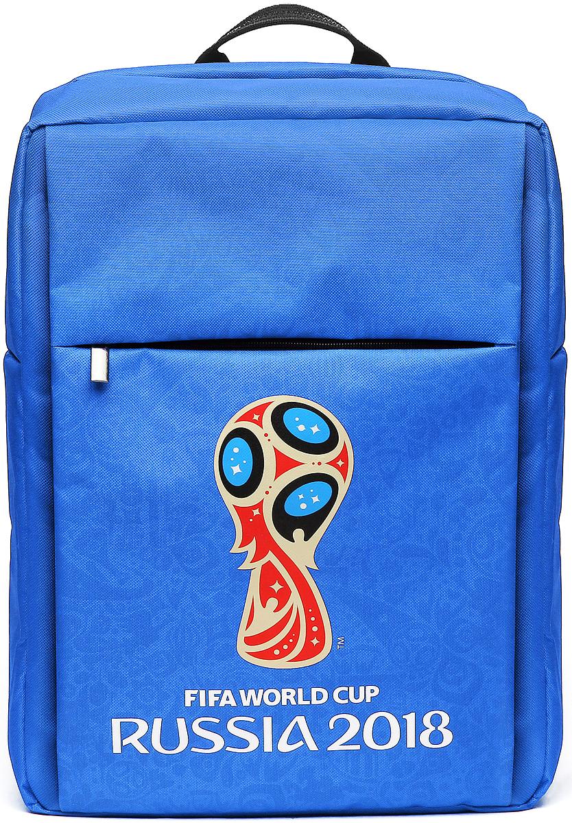 Crown Micro CM-F-BC8001 FIFA 2018, Blue рюкзак для ноутбука 15,6CM-F-BC8001Рюкзак для ноутбука CM-F-BC8001 – станет не только верным спутником для вашего ноутбука, нои сохранит память о празднике футбола на долгие годы или послужит замечательным подаркомистинному фанату. Рюкзак изготовлен из высококачественного материала – нейлона 600D сводоотталкивающей пропиткой, подкладка изготовлена из полиэстера. Внутри два отделения –основное и карман с защитой от механических повреждений для ноутбука с диагональю до 15,6''.Спереди рюкзак имеет внешний карман на молнии. На задней стороне рюкзака разместилисьручка для переноски и широкие плечевые лямки с регулировкой по длине. Но конечно же, главнойособенностью данной модели является яркий внешний вид, выполненный в фирменнойсимволике FIFA с официальным логотипом чемпионата.
