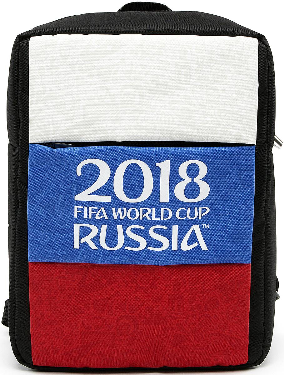 Crown Micro CM-F-BC8003 FIFA 2018, Black рюкзак для ноутбука 15,6CM-F-BC8003Рюкзак для ноутбука CM-F-BC8003 – станет не только верным спутником для вашего ноутбука, нои сохранит память о празднике футбола на долгие годы или послужит замечательным подаркомистинному фанату. Рюкзак изготовлен из высококачественного материала – нейлона 600D сводоотталкивающей пропиткой, подкладка изготовлена из полиэстера. Внутри два отделения –основное и карман с защитой от механических повреждений для ноутбука с диагональю до 15,6''.Спереди рюкзак имеет внешний карман на молнии. На задней стороне рюкзака разместилисьручка для переноски и широкие плечевые лямки с регулировкой по длине. Но конечно же, главнойособенностью данной модели является яркий внешний вид, выполненный в фирменнойсимволике FIFA с официальным логотипом чемпионата.
