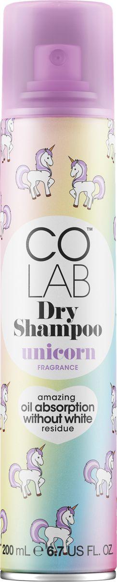 Colab Сухой шампунь Unicorn, 200 мл4-003124Colab Unicorn - это не только чистота и свежесть волос, но и очаровательный мистический аромат... аромат искрящейся сливы, ванили, радуги и вашей фантазии!